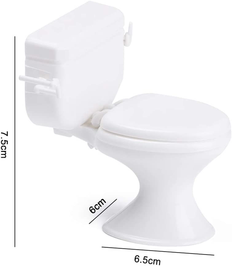 Toilette Möbel für Puppenhäuser White Closestool Modell Zubehör für Puppen