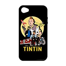 iPhone 4 Case, [the adventures of tintin] iPhone 4,4s Case Custom Durable Case Cover for iPhone4s TPU case (Laser Technology)