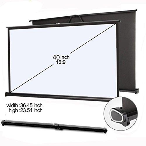 everyone gain 40'' 16:9 Projector HD Screen Portable Folding Table Screen (40 inch 16:9) by EVERYONE GAIN DH