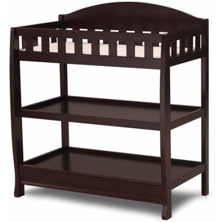 Delta Children's Changing Table with Pad, Chocolate Color