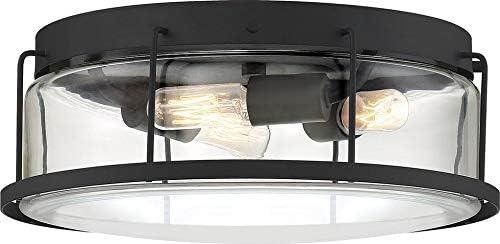 Quoizel Lud1613ek Ludlow Flush Mount Ceiling Lighting 3 Light 40 Watts Earth Black