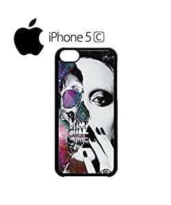 LJF phone case Sexy Skull Girl Galaxy Mobile Cell Phone Case Cover iphone 6 4.7 inch Black