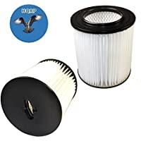 HQRP 2-pack 7 Filter for Dirt Devil Pro 390, 590, 690, 890, 990, Platinum Force 299e H-P Central Vacuum Systems, 8106-01 Replacement + HQRP Coaster