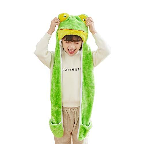 l HAT Cosplay CAP - Unisex - Soft Warm Headwraps - Frog ()