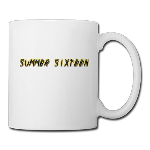 Summer Sixteen Letters Coffee Mug Water Cup Drinking Cup Beer Mug Milk Cup Tea Cup Restaurant Cups Ceramic Mug Morning Cup White