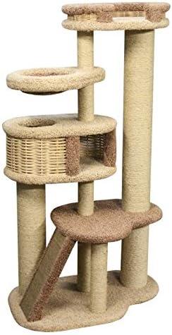 CESART - Árbol rascador para Gatos XXL con Revestimiento de moqueta sólida, Color Beige y Gris: Amazon.es: Productos para mascotas