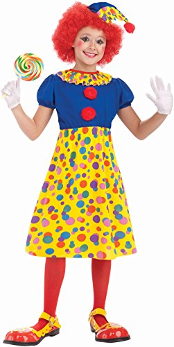 Forum Novelties Circus Clown Girl Costume, Child (Deluxe Circus Clown Costumes)