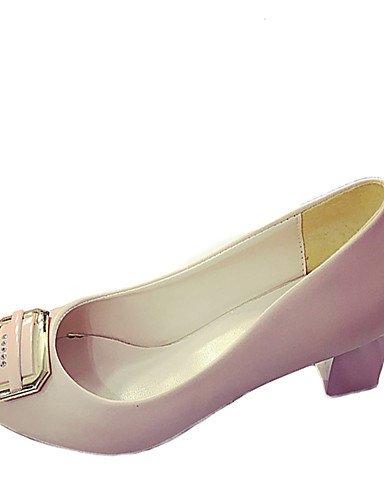 GGX/ Damen-High Heels-Büro / Kleid / Lässig-Kunstleder-Blockabsatz-Absätze / Komfort / Stifelette / Rundeschuh-Schwarz / Rosa / Beige pink-us5.5 / eu36 / uk3.5 / cn35