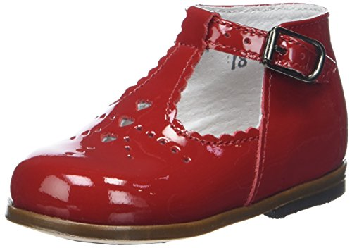 Little Mary - Sandalias de cuero para niña Rojo (Vernis Cherry)