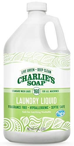 Charlie's Soap - Fragrance-Free Laundry Liquid detergent - 160 Loads (128 oz, 1 Pack)