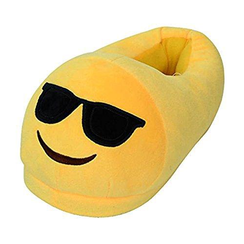 Pantoufles Intérieures Douces, Kyson Femmes Hommes Enfants Hiver Pantoufles Chaudes Maison Chaussures Emoji Dessin Animé En Peluche Pantoufle 3