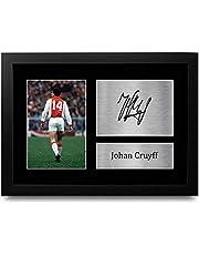 HWC Trading FR A4 Johan Cruyff Ajax Geschenken Gedrukte Gesigneerde Autograph Foto voor Fans en Supporters - A4 Framed