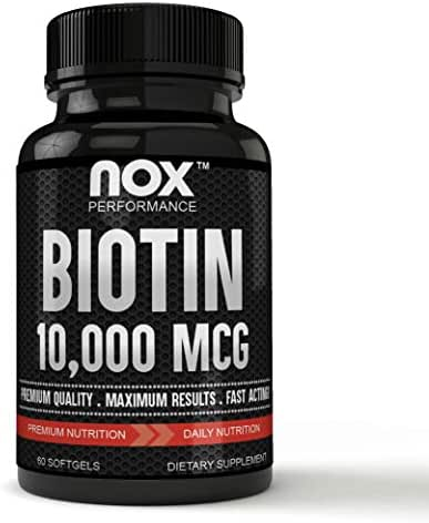 Premium Grade Biotin 10,000 MCG Hair, Skin and Nails | Fast Acting, High Potency - Biotin Softgels, Non-GMO Supplement