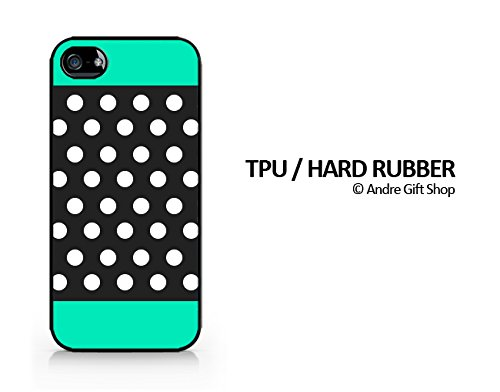 TPU/Rubber Black Case - Polka Dot Pattern - Compatible for iPhone 5/5S - (C) Andre Gift Shop
