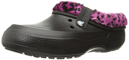 crocs  Unisex Classic Blitzen II Linedgraph Mule, Black/Berry, 7 (M) US/ 9 (W) US (Insulated Crocs compare prices)