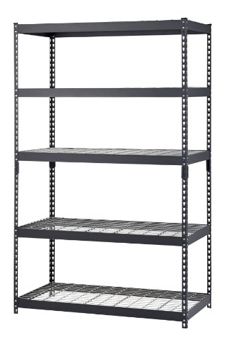 Edsal TRK-482478W5 Black Steel Shelving, 78