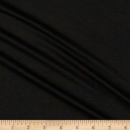 Lavitex Heavy Rayon Jersey Knit Solid Fabric, Black, Fabric By The Yard