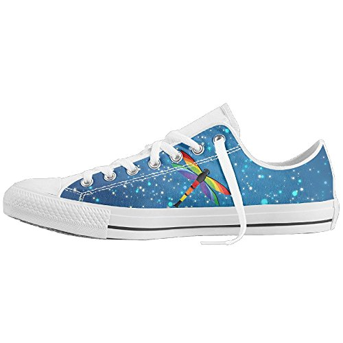 Dragonfly Bold Color Unisex Classic Canvas Lace Up Shoes Sneakers For Men & Women