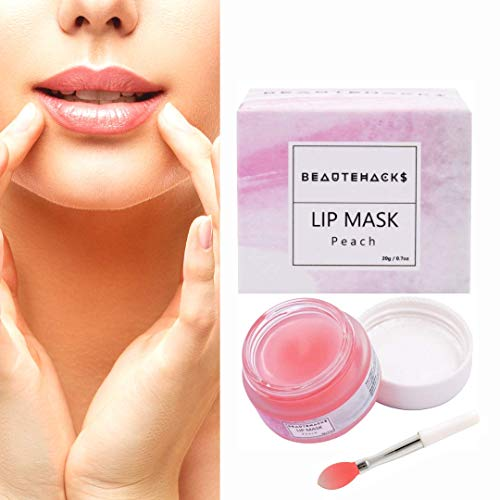 BeauteHacks Moisture & Collagen Booster Sleeping Lip Mask I Treatment to Restore, Hydrate & Plump Dry, Chapped Lips