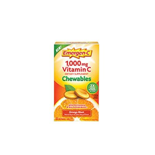 Alacer EmergenC Orange Chewable Vitamin C (2 Pack)