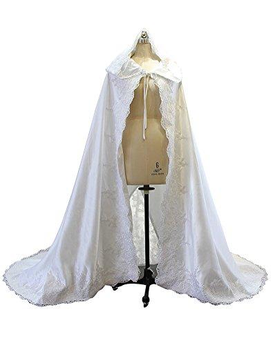 Erosebridal 2018 Long Lace Wedding Dress Cape Wedding wrap Wedding Jacket Wedding Bolero (Ivory) by Erosebridal