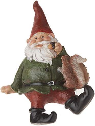 Garden Gnome Statue – Osbert the Garden Gnome Shelf Sitter – Outdoor Garden Gnomes – Funny Lawn Gnome Statues