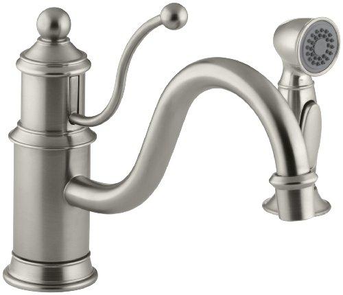 KOHLER K-169-BN Antique Single Control Kitchen Sink Faucet, Vibrant Brushed Nickel (Bn Kohler Antique)