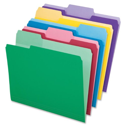 Pendaflex 1/3-Cut Top Tab Assorted File Folders with Erasable Tabs 30 Pack (84370) (File Folders 30)