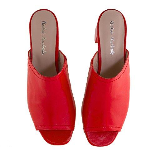 Machado Andres 45 Ante Spain mule In Napa made amaya Y 35 Rojo tallas Pequeñas 42 Grandes mujer 32 4dqrd7