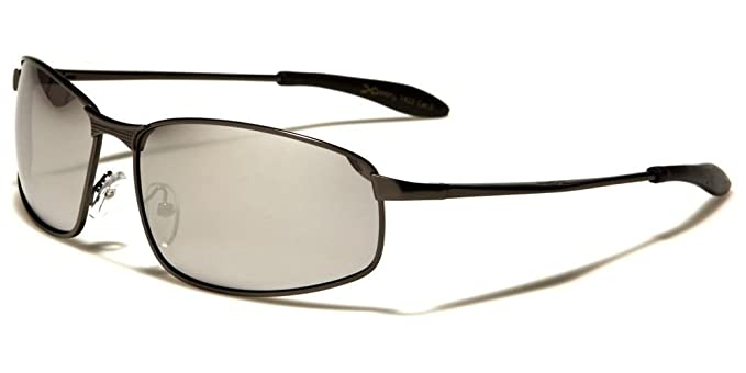 46df0b75a Amazon.com: Designer Modern Stylish Mirrored Lens High-End Mens Sporty  Rectangle Sunglasses: Clothing