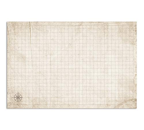 RPG Battle Grid Game Mat - 24 x 36 inch Dungeons Dragons Game Mat - DND Miniatures Battlemat Chessex - Dungeons and Dragons Dry Erase Battle Board - Unique Essentials Gifts for Men