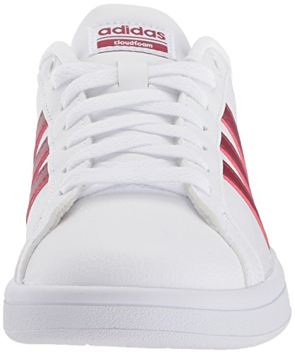 white Advantage adidas White Collegiate Women's Burgundy Cf Sneaker 00rSEq