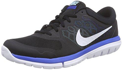 Nike Flex 2015 Rn, Herren Sneakers Negro / Blanco / Azul (nero / Bianco-copa-blu Laguna)