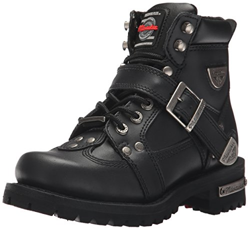 Milwaukee Motorcycle Clothing Company Road Captain Leather Women's Motorcycle Boots (Black, Size 6C) from Milwaukee Motorcycle Clothing Company