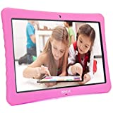 "10 Android Tablet,10.1"" Inch 1080p Full HD Display Android 7.0,2GB+32 GB,Dual Camera Front 2MP+ Rear 5MP,Bluetooth and WiFi Blue Kid-Proof Case(Pink)"