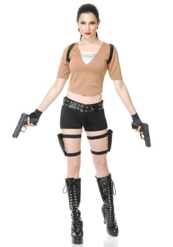 Costumes Gun Holster Lara Croft (Tomb Fighter Adult Costume)