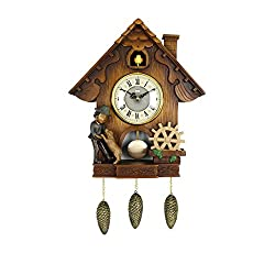 SMC 24.4 Inch Country Style Vintage Cuckoo Clock Home Decor Design Wall Clocks(The clock can be both hung on the wall and placed on the table.