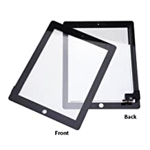 HDE Black iPad 2 Digitizer Touch Screen Replacement Parts w/ 7 Piece Tool Kit and Adhesive Tape