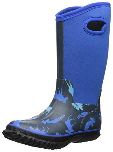 Hatley Little Boys' All-Weather Boots Blue Moose, Blue, 8