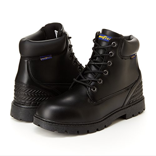 Goodyear Maverik Mens Work Boots - Memory Foam Foot Bed, Slip & Oil Resistant Black