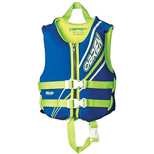 - O'Brien Child Neoprene Life Vest, Blue/Green, 30-50-Pound