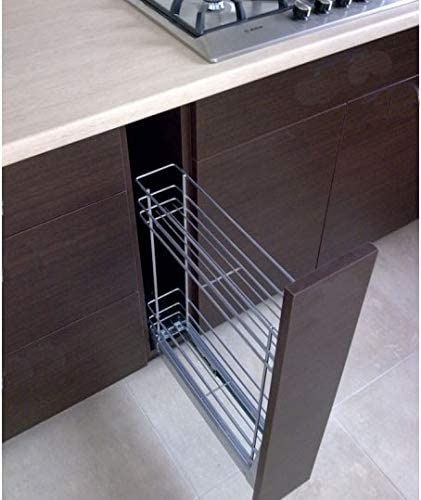 Premium-Ambiente ASTUVWEPEPA277 Unterschrank Apothekerschrank Vollauszug Softclosing EURODEKOR/® Breite 18cm, 01 Concrete dunkelgrau