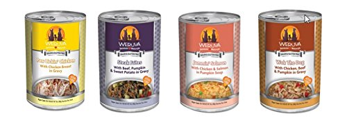 Weruva Variety Pack #2 Canned Dog Food, 4 Flavors (Pack of 12 cans)