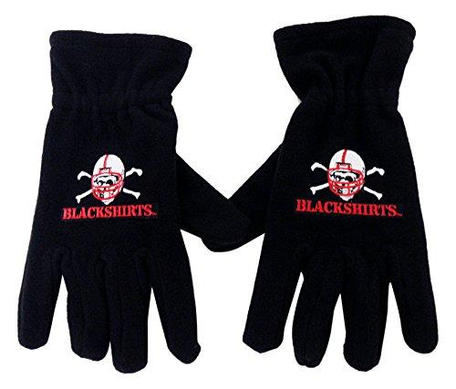 Donegal Bay NCAA Nebraska Cornhuskers Fleece Gloves, Red/Black, One Size