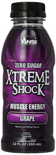 Ansi Xtreme Shock RTD Energy Drink, Grape,  12 oz., 12 Count