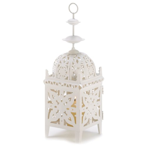 Gifts & Decor Cream White Medallion Cand