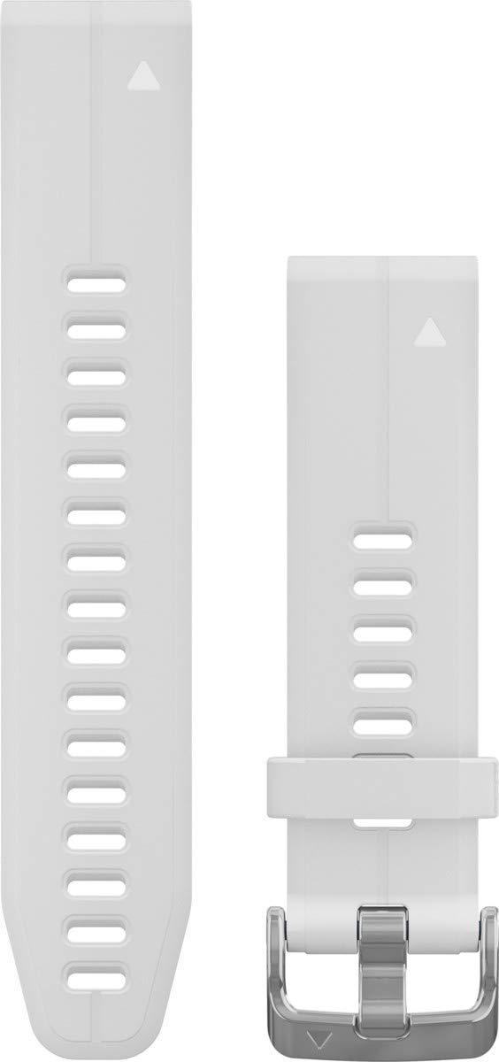 Garmin 010-12739-01 Quickfit 20 Watch Band - Carrara White Silicone - Accessory Band for Fenix 5S Plus/Fenix 5S by Garmin
