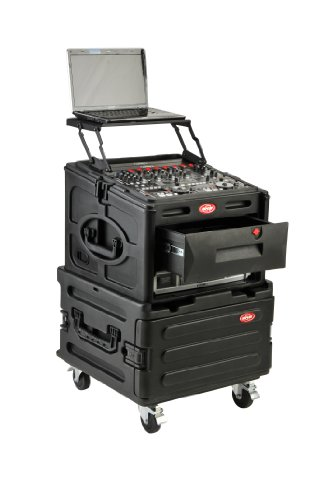 SKB R1906 Roto Rack 6U Expander with 4-Casters for R104/106 and R1006/R1010/R1208 by SKB