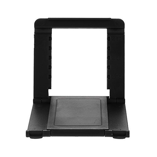 Tuscom Durable Adjustable Portable Foldable Universal Cell Phone Desk Table Desktop Stand Holder, 7X8X0.5cm Durable Practical Lightweight (Black) by Tuscom@ (Image #4)