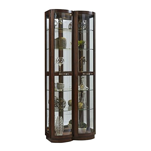 Pulaski Pacific Heights Curved Front Curio in Brown